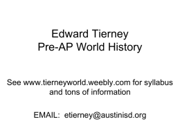 School Night Powerpoint - AGS World History
