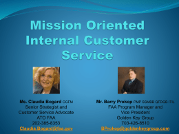 Mission Oriented Internal Customer Service