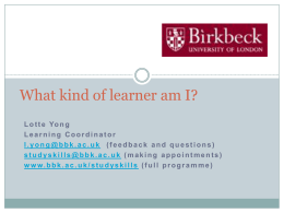 What kind of learner am I?