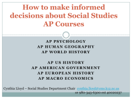 What do I need to know about AP Social Studies courses?