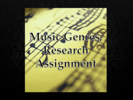 Isabella.K - Music Genres Research Assignment