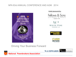 NPA Conference and Awards 2014