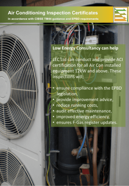 Air Conditioning Inspections, CIBSE TM44 Guidance and EPBD