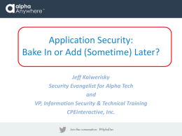 Security Overview ()