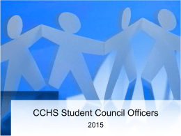 CCHS Student Council Officers Responsibilities
