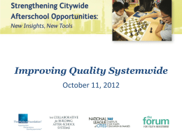 PowerPoint—Improving Quality Systemwide