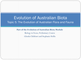 1.5 The Evolution of Australian Flora and Fauna