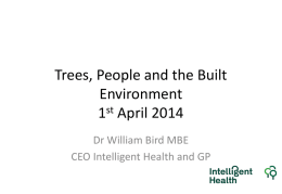 Trees, People and the Built Environment