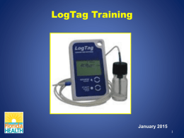 Setting Up and Using the Log Tag TRED 30-7