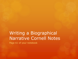 Writing a Biographical Narrative v2