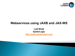 Java Web Services using JAX-WS and JAXB