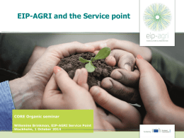 Presentation from EIP-AGRI