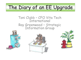 The Diary of an EE Upgrade - QAD West Coast User Group