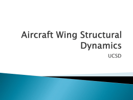 Aircraft Wing Structural Dynamics