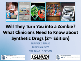 Synthetic Drugs PowerPoint Presentation