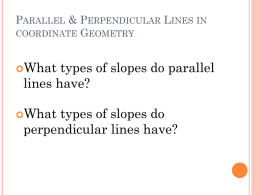 Parallel & Perpendicular Lines in coordinate Geometry