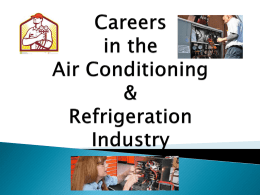 Careers in the Air Conditioning & Refrigeration Industry