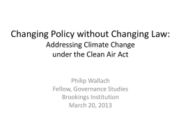 Changing Policy without Changing Law: Addressing Climate