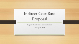 Indirect Cost Rate Proposal - by Hank Johnson