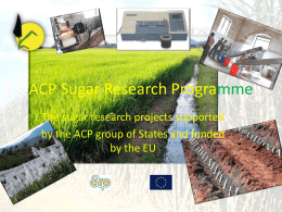 II.3 - The ACP Sugar Research Programme