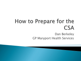 CSA Exam: Registrar Perspective