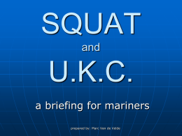 Squat - a briefing for mariners