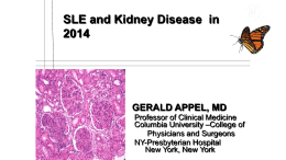 What happened with SLE Kidney disease ( lupus nephritis )in the past