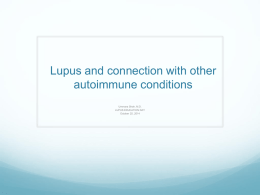 Lupus and connection with other autoimmune conditions