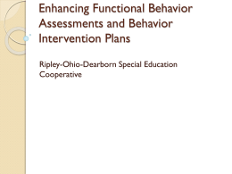 Enhancing Functional Behavior Assessments and Behavior