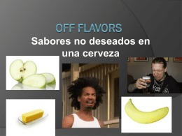 off flavors exposicion - Tijuana Homebrew Club