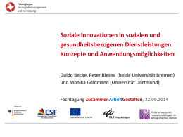 Sozialen Innovation - Universität Bremen