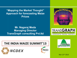 the india maize summit`13