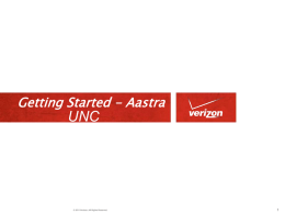 Getting Started with Verizon VoIP