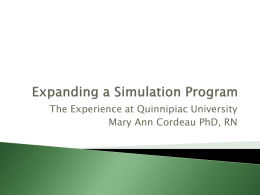 Expanding a Simulation Program