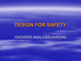 15 DESIGN FOR SAFETY HAZAN