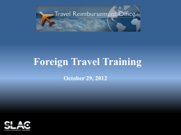 Foreign Travel Training