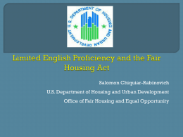 HUD Powerpoint on LEP and Housing (ppt)