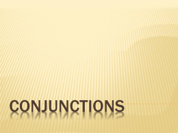 Conjunctions - World of Teaching