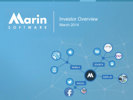 Marin Software Investor Overview