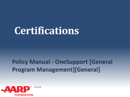 4 Certification - Arizona AARP Tax-Aide