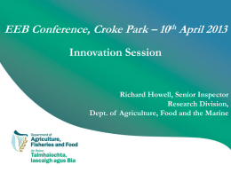 Richard Howell - Irish Department for Agriculture