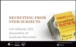 Recruiting from STEM subjects - Association of Graduate Recruiters