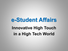 e-Student Affairs - Texas Woman`s University