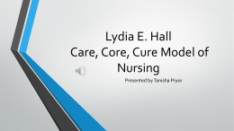 Lydia E. Hall Care, Core, Cure Model of Nursing