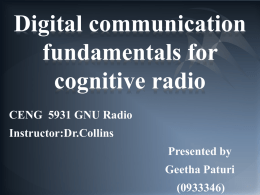 Chapter 3 Digital Communication Fundamentals for Cognitive Radio