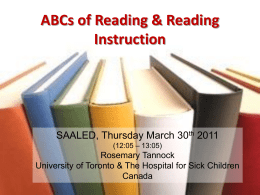 SAALED Conference South Africa 2011: ABCs of