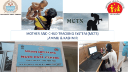 Presentation on Mother & Child Tracking System(MCTS)