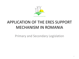 application of the eres support mechanism in