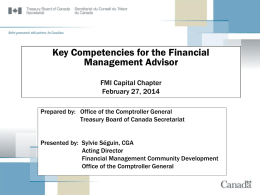Key Competencies for the Financial Management Advisor