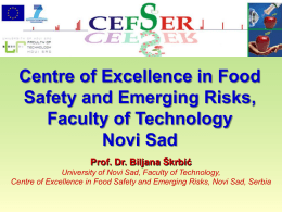 Centre of Excellence in Food Safety and Emerging Risks
